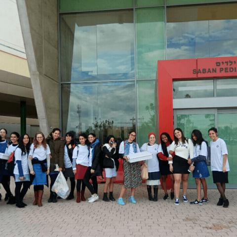 מתנדבות לב לרפואה <br>בבית החולים סורוקה